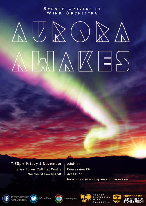 Aurora Awakes Concert Poster